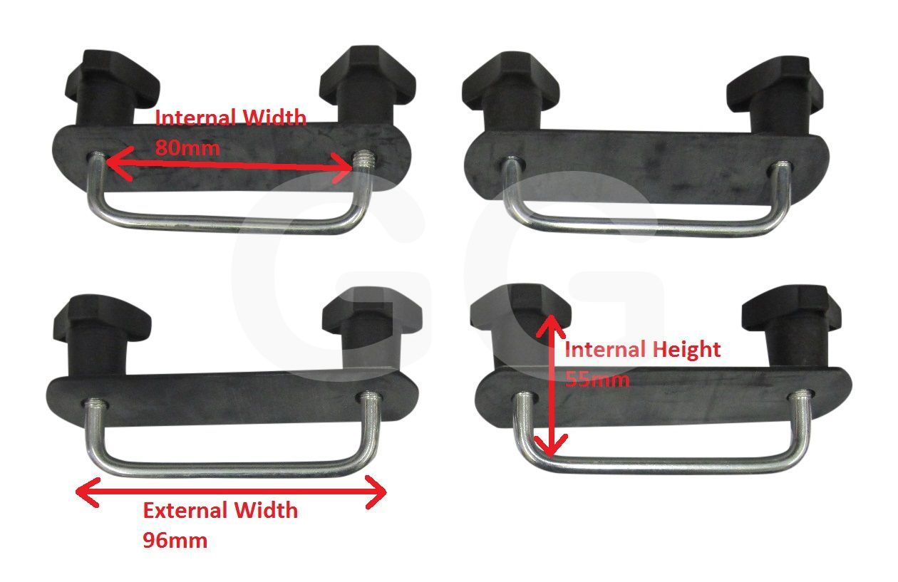 Buy Thule Roof Box U Clamps 80mm Wide Fitting Kit Goode